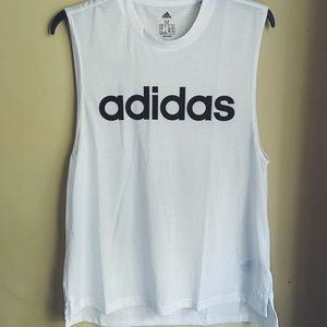 NWOT Adidas Classic White Muscle Tee, Sz. M